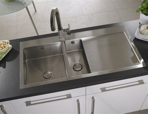 brushed steel kitchen sink astracast vantage 1 5 bowl brushed stainless steel inset