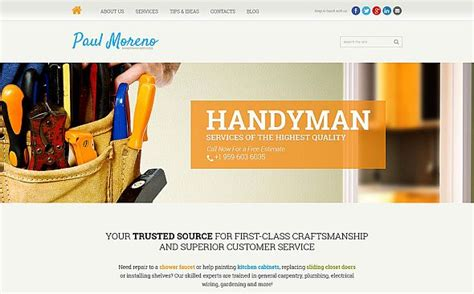 comparison   handy man services website templates tonytemplates