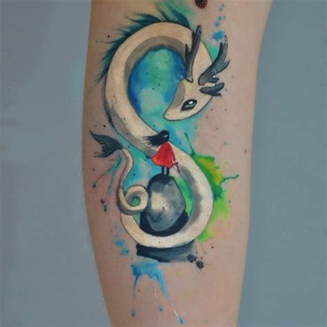 magical watercolor dragon tattoo best tattoo ideas gallery
