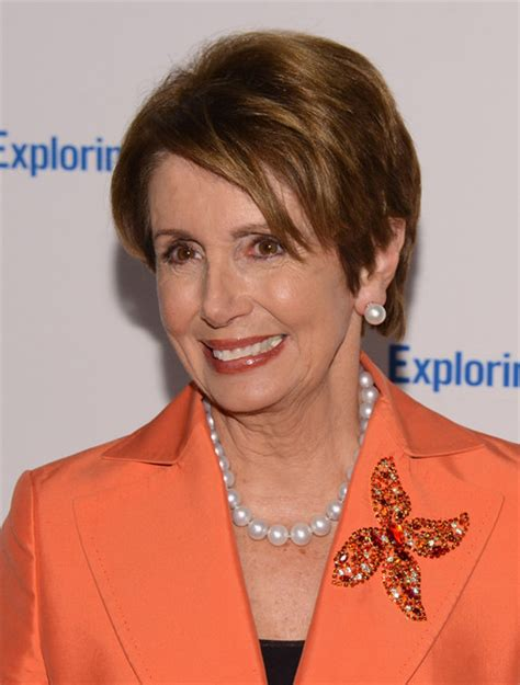 nancy pelosi s short haircut is so trendy photos nancy pelosi pearl studs nancy pelosi looks stylebistro