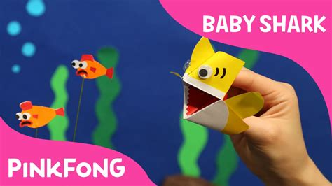 baby shark youtube pinkfong i m an origami baby shark puppet animal songs