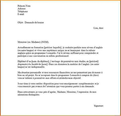 Exemple Lettre De Motivation Anglais Erasmus 6 Exemple Lettre Motivation Lettre De Demission