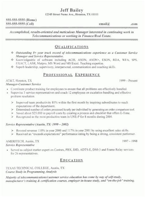 Resume Summary Statement Operations Qualifications Summary On Resume Exle