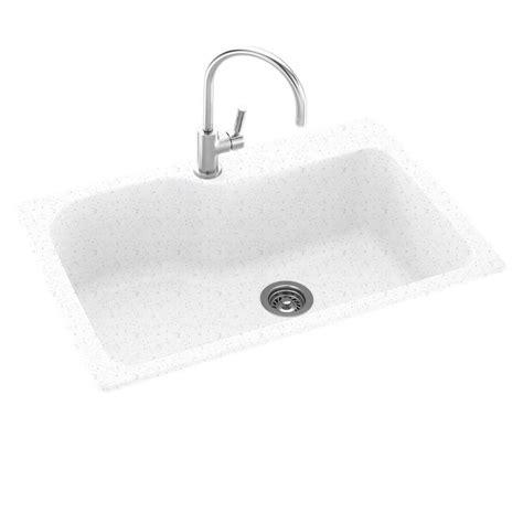 Swan Granite Kitchen Sink Swanstone Drop In Undermount Composite 33 In 1 Single Bowl Kitchen Sink In Arctic Granite