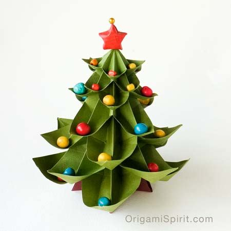 origami xmas decorations how to make an origami tree