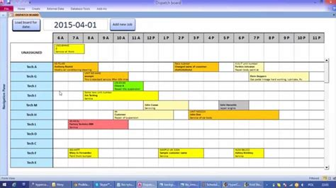 ms access calendar template microsoft access interactive work load and capacity