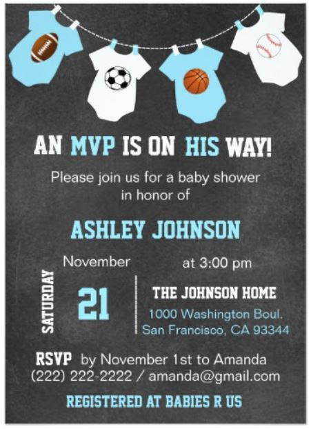 Baby Shower Invitations Sports Theme by Sports Theme Baby Shower Invitations Baby Shower