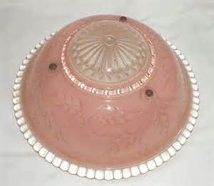 pink light fixtures vintage pink beaded etched glass ceiling light fixture