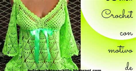 patrones ganchillo de bella blusa en punto pi a todo crochet