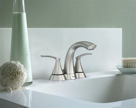 moen darcy bathroom faucet moen darcy two handle brushed nickel bathroom faucet