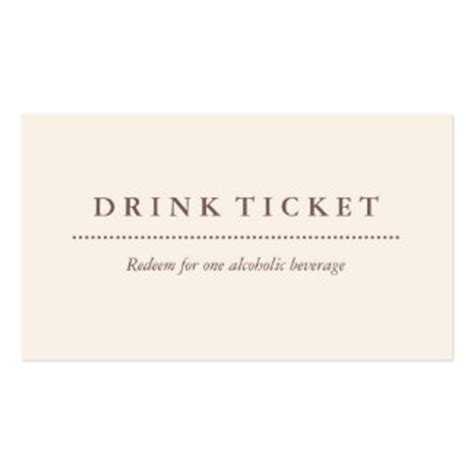 free drink card template drink coupon business cards templates zazzle