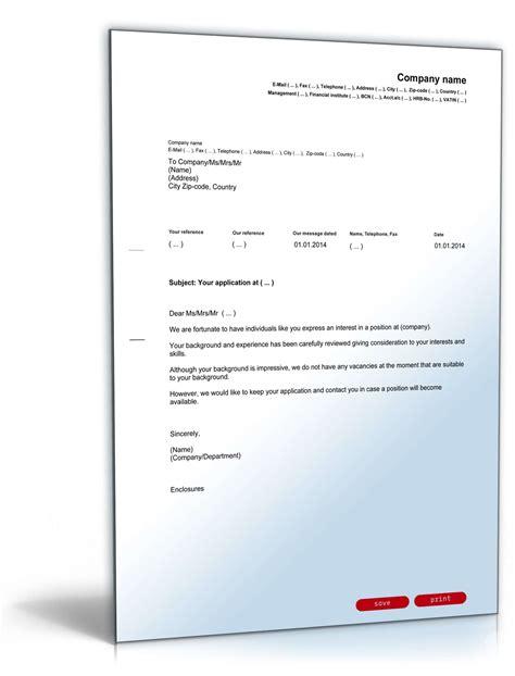 Bewerbung Absagen Email Absage Initiativbewerbung Englisch