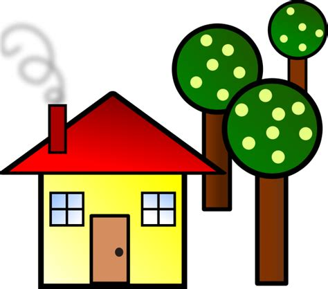 House With Trees Clipart Panda Free Clipart Images