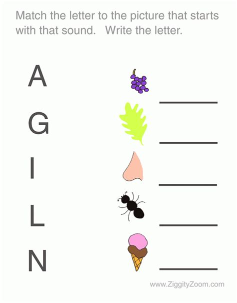 Worksheets For Pre K by Pre K Matching Worksheets Quotes