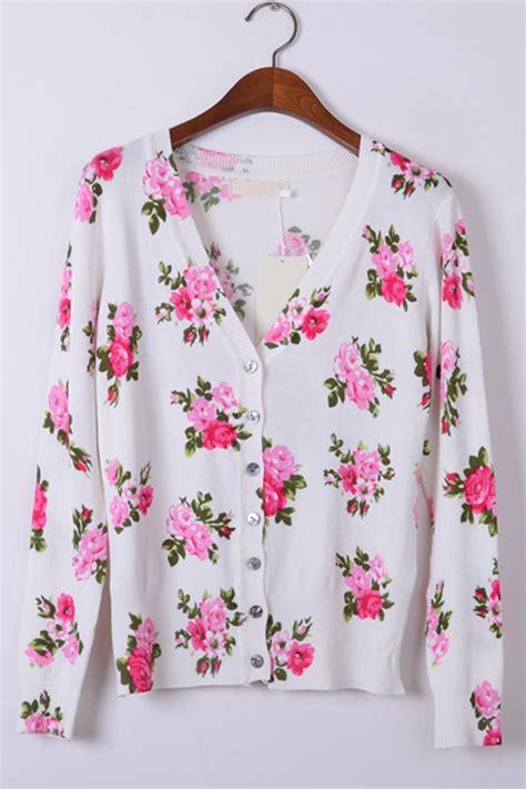 Floral Print Cardigan floral print button up cardigan oasap
