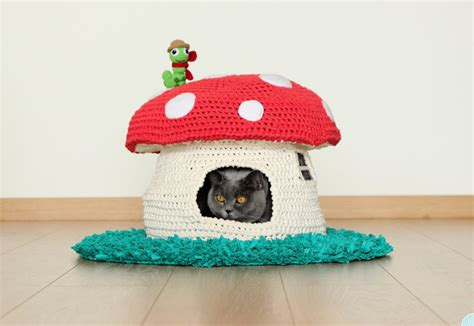 dog bed patterns pattern into the woodland house pet bed crochet cat cave