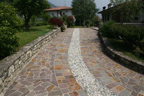 Pavimentazioni Per Giardini by Pavimenti In Pietra Per Esterni Viali Spiazzi Giardini