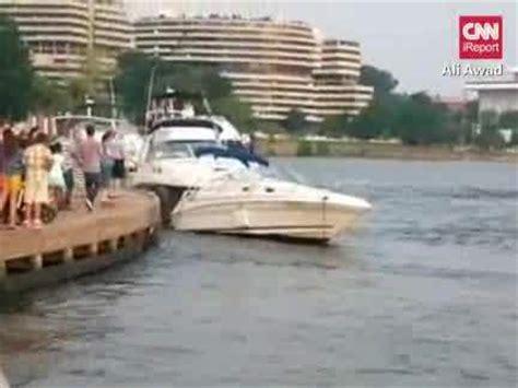 washington dc police boat video washington d c police boat crashes into two parked