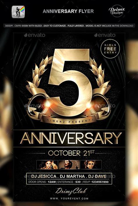 anniversary flyer psd designs design trends