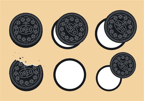 oreo pattern vector oreo vector set download free vector art stock graphics