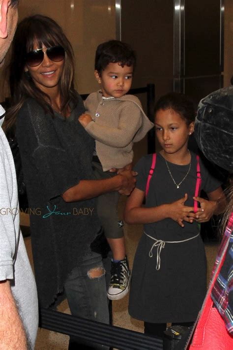 Baby Bery Kidz halle berry with nahla and maceo at lax growing