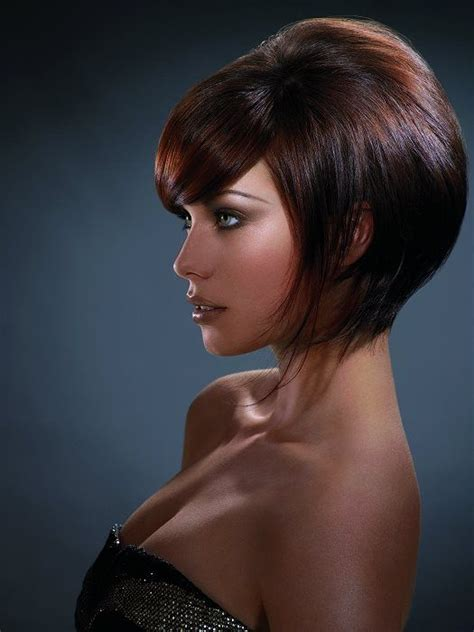 volume bob hair medium volume brunette cut hair and makeup pinterest