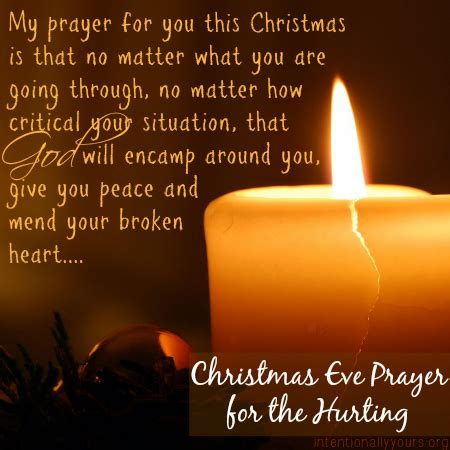 christmas eve prayer for the hurting — intentionally yours