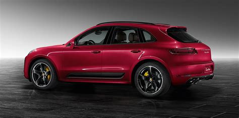 turbo porsche red metallic red porsche macan turbo by porsche exclusive