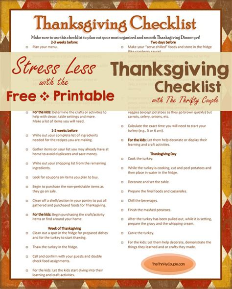 Plan The Perfect Thanksgiving With The Thanksgiving Timeline With Printable Timeline Calendar Thanksgiving Checklist Template
