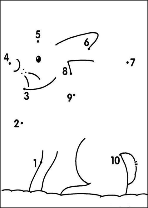 printable dot to dot up to 10 learning numbers drawing with kids pinterest numbers