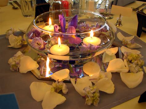 wedding reception centerpieces floating candles centerpieces
