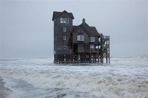 the house north beach photo du jour an historic north carolina beach house overtaken by water feature shoot