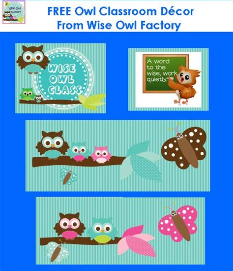 owl classroom theme printable  bulletin boards