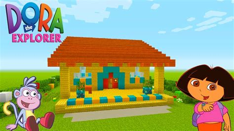 dora house minecraft tutorial how to make dora the explorers house quot dora the explorer