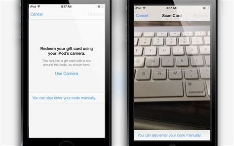 Redeem Itunes Gift Card Ios - ios 7 allows you to redeem itunes cards with the isight camera techgreatest
