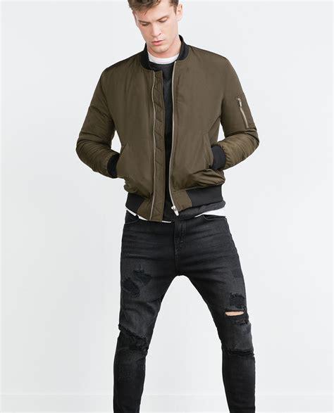 Parka Jacket Sweater Jaket Jaket Bomber Jaket Wanita zara bomber jacket in for lyst