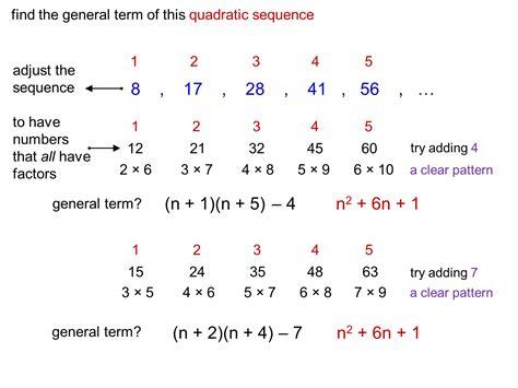 quadratic pattern questions median don steward mathematics teaching quadratic nth