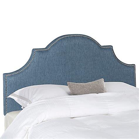 denim headboard buy safavieh hallmar queen headboard in denim blue from