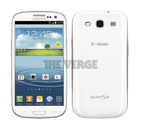 samsung s3 mobile pics of t mobile samsung galaxy s3 leaked