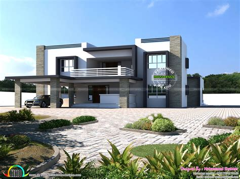 www kerala home design blogs 4500 square feet 8 bhk flat roof home kerala home design