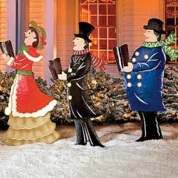 outdoor carolers set of 3 metal carolers outdoor yard display
