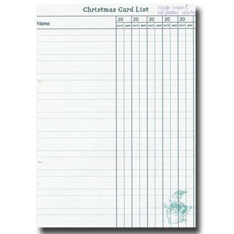 printable christmas card record book book of christmas card list x 5 organisers for