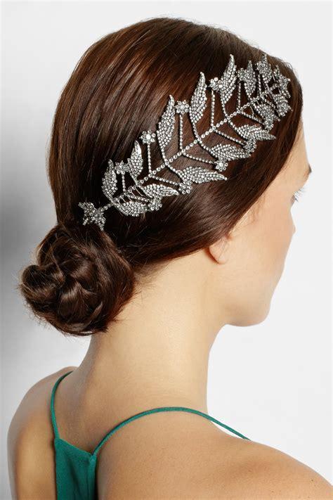 Would You Wear This Erickson Beamon Headband by Lyst Erickson Beamon Ballroom Rhodiumplated