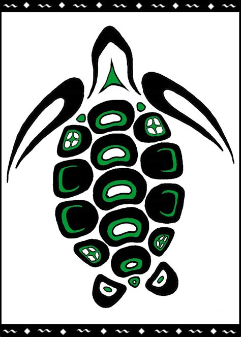 native american turtle clipart