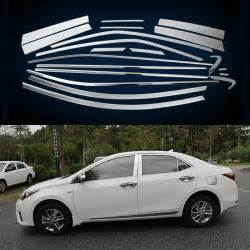 2009 Toyota Corolla S Accessories Car Styling Window Trim Decoration For America