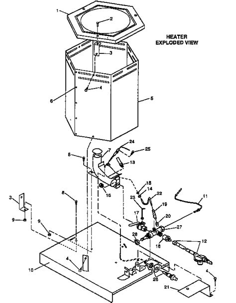 reddy heater parts diagram reddy propane construction heater parts model rcp80
