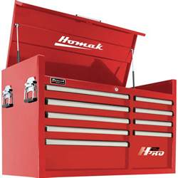 homak h2pro 41in 9 drawer top tool chest 41 1 8in w x 21 3 4in d x 24 1 2in h tool chests