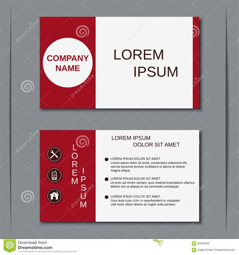 business card sticker template modern business visiting card vector template stock vector