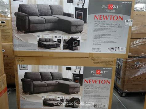 pulaski newton convertible sofa aug 2015