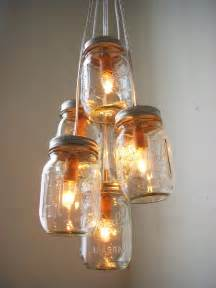 jar lighting fixtures summer s day jar chandelier lighting fixture by